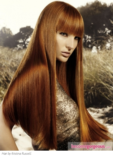 Super Long Red Hairstyle