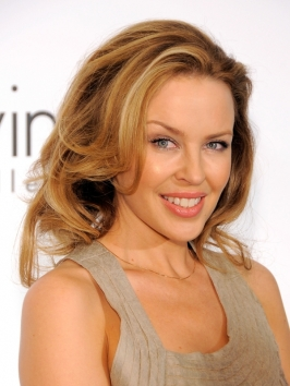Kylie Minogue Shoulder Length Wavy Hairstyle
