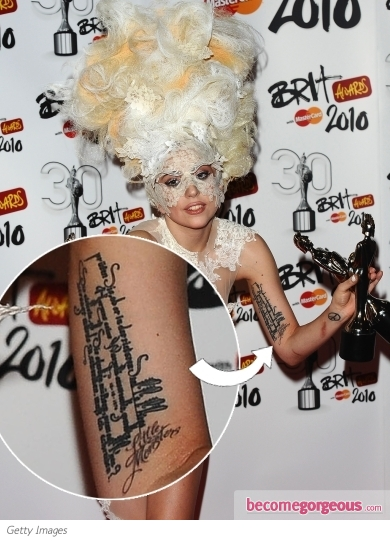 lady gaga quote tattoo. Lady Gaga#39;s Quote Tattoo and