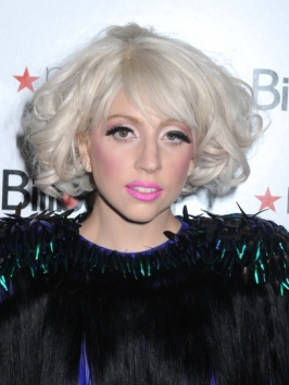 Lady Gaga Curly Bob Hairstyle