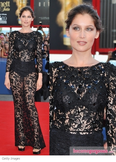 Laetitia Casta in Dolce & Gabbana Lace Dress