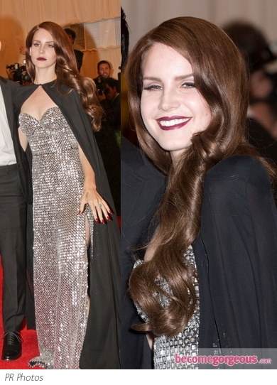 Lana Del Rey in Altuzarra Silver Dress