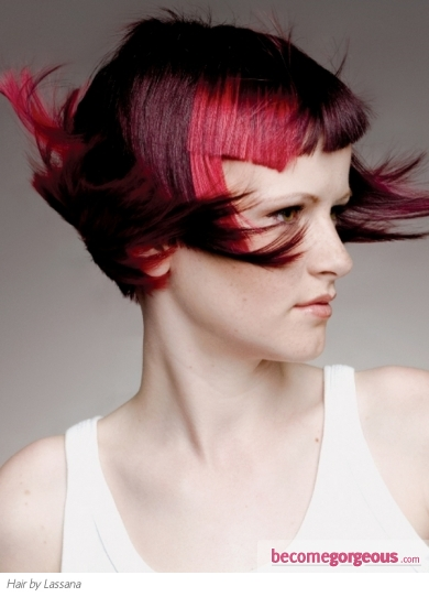 Amazing Magenta Hair Highlights