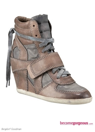 Lace-Up Sneaker Wedges
