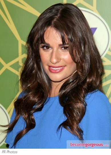 Lea Michele Glam Wavy Hairstyle