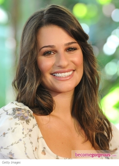 Lea Michele Casual Wavy Hairstyle