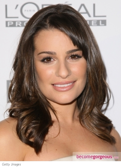 medium length hairstyle gallery. Lea Michele Shoulder Length