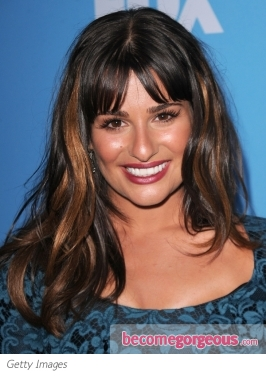 Lea Michele New Copper Highlights