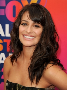 Lea Michele Tousled Wavy Hairstyle