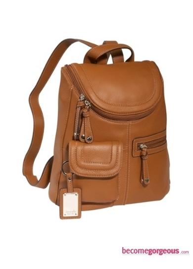 Trendy Leather Backpack from Tignanello