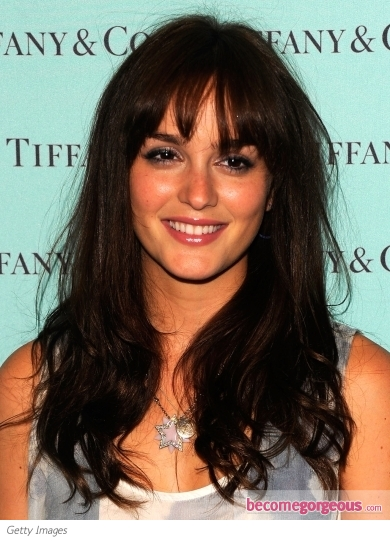 Leighton Meester Whispy Bangs Hairstyle
