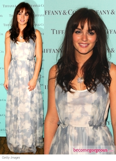 Leighton Meester in Carven Maxi Dress