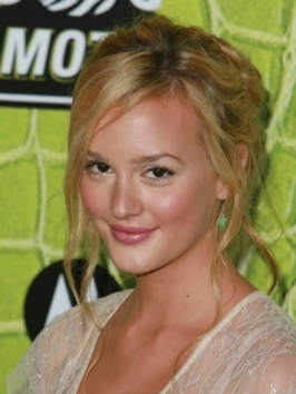 Leighton Meester Blonde Loose Updo