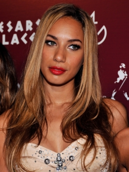 Leona Lewis Two Tone Hairstyle
