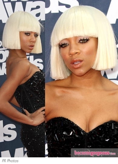 Lil' Mama Sharp Bob Hairstyle 2011 MTV Movie Awards