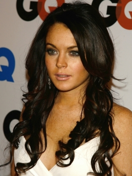 Lindsay Lohan Long Brunette Hairstyle