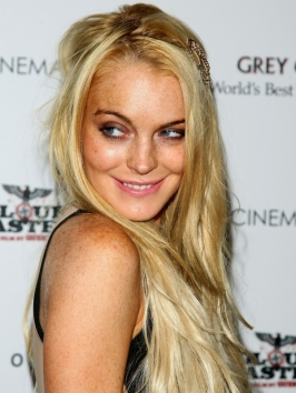 Lindsay Lohan New Blonde Hair Color