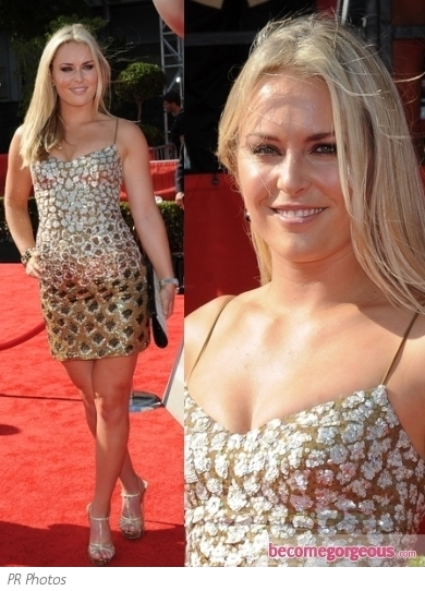 Lindsey Vonn in Mandalay Sequined Dress