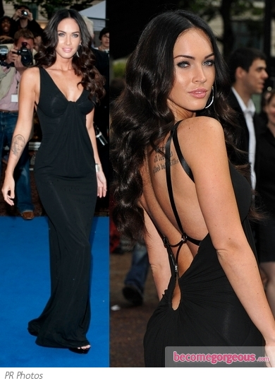 Megan Fox in Black Kaufman Franco Dress