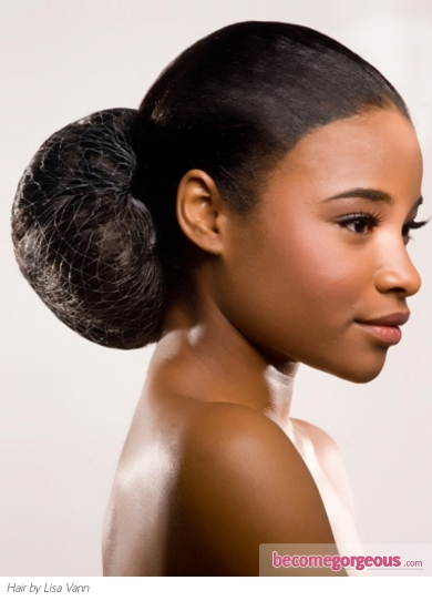 Classy Afro Updo Hair Style