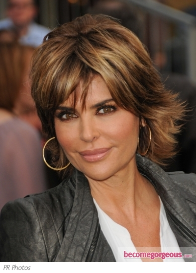 Lisa Rinna Short Shag Hairstyle 2011