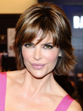 Lisa Rinna Choppy Shag Haircut