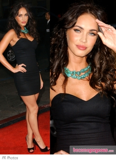 Megan Fox in Kova & T Kit Black Mini Dress