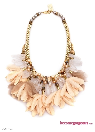 Lizzie Fortunato Feather Necklace