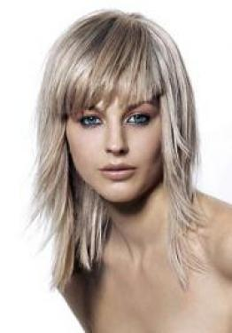 Medium Length Layered Hairstyles with Bangs for Thin Hair
