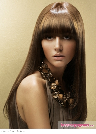 Long Super-Straight Hair Style