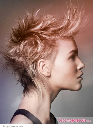 Medium Punk Hair Style. Are you into something edgy than use your tresses to