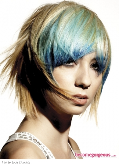 emo hair coloring ideas. This dapper rainbow hair color