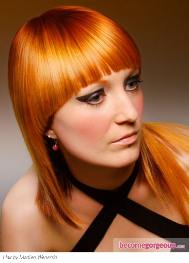 Chic Ginger Hair Color Idea