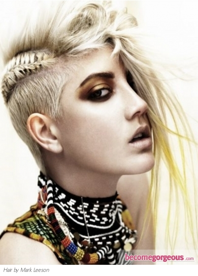 girl long hair mohawk. Punk Mohawk Hair Style