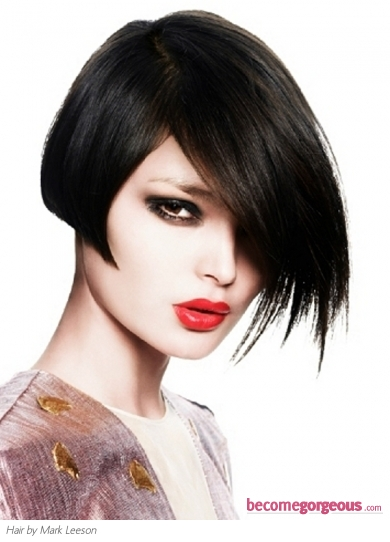 Medium Black Bob Hair Style