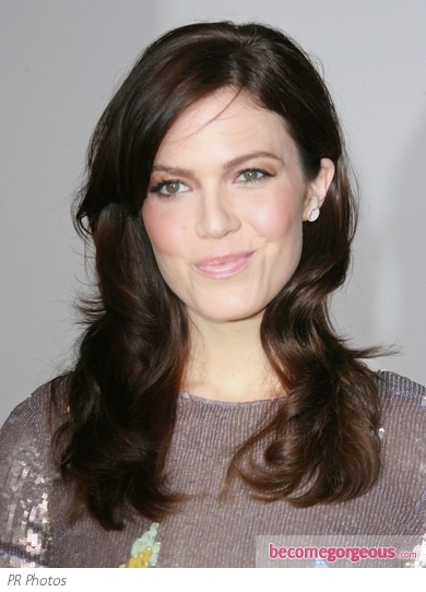 Mandy Moore Dark Brown Hairstyle