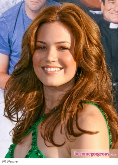 Mandy Moore Copper Red Hairstyle