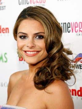 Maria Menounos Curly Side Pinned Hairstyle