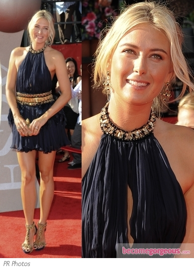 Maria Sharapova in Alexander McQueen Dress