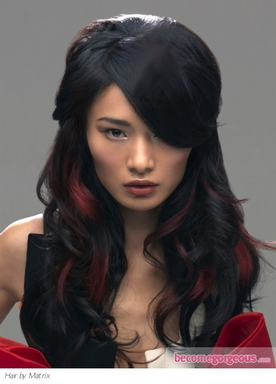Long Red Hair Highlights