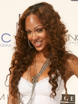 Meagan Good Spiral Curly Hairstyle