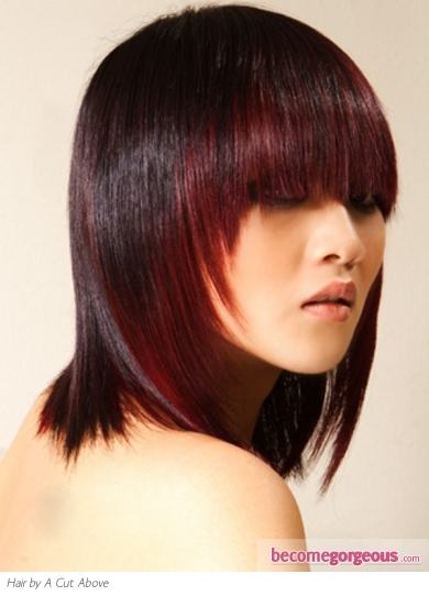 Medium Two-Tone Hair Style