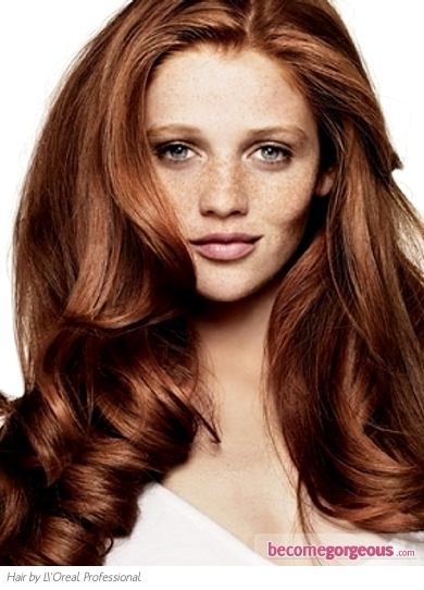 Medium Auburn Red Hair Color