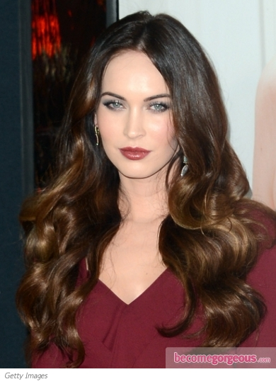 Megan Fox Loose Curls Hairstyle