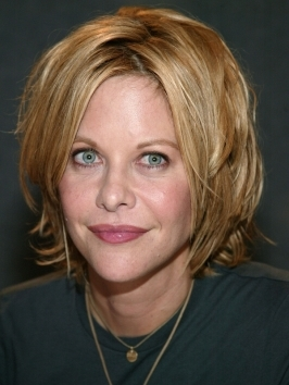 All the layers of Meg Ryan's medium shag haircut are directed forward so they cna move that way when you blow-dry.