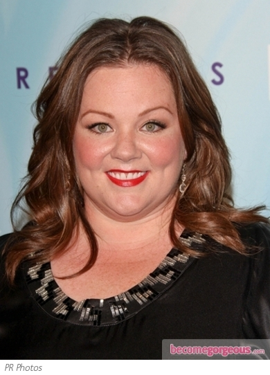Melissa McCarthy Middle Parted Waves
