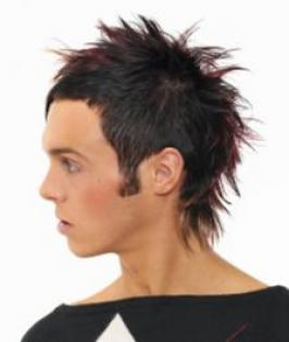 The faux hawk hair style