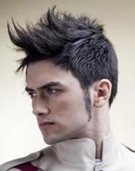 This is a mohawk hairstyle for men.