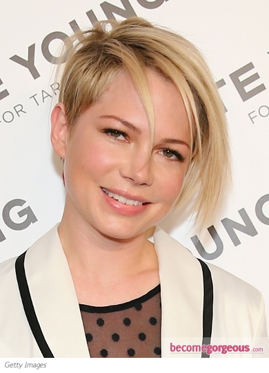Michelle Williams' New Asymmetric Short Hairstyle