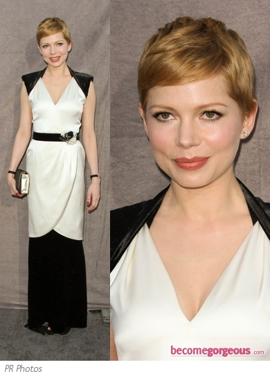 Michelle Williams in Chanel Black and White Dress
